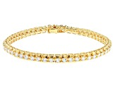 White Cubic Zirconia 18K Yellow Gold Over Sterling Silver Tennis Bracelet 8.95ctw