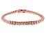 White Cubic Zirconia 18K Rose Gold Over Sterling Silver Tennis Bracelet 8.95ctw