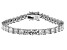 White Cubic Zirconia Rhodium Over Sterling Silver Tennis Bracelet 15.09ctw