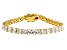 White Cubic Zirconia 18K Yellow Gold Over Sterling Silver Tennis Bracelet 15.09ctw
