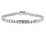 White Cubic Zirconia Rhodium Over Sterling Silver Tennis Bracelet 17.28ctw