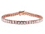 White Cubic Zirconia 18K Rose Gold Over Sterling Silver Tennis Bracelet 17.28ctw