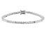White Cubic Zirconia Rhodium Over Sterling Silver Tennis Bracelet 9.82ctw
