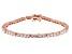 White Cubic Zirconia 18K Rose Gold Over Sterling Silver Tennis Bracelet 9.82ctw