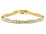 White Cubic Zirconia 18K Yellow Gold Over Sterling Silver Tennis Bracelet 10.41ctw