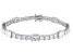 White Cubic Zirconia Rhodium Over Sterling Silver Tennis Bracelet 28.56ctw