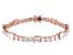 White Cubic Zirconia 18K Rose Gold Over Sterling Silver Tennis Bracelet 28.56ctw