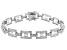 White Cubic Zirconia Rhodium Over Sterling Silver Tennis Bracelet 3.94ctw