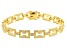 White Cubic Zirconia 18K Yellow Gold Over Sterling Silver Tennis Bracelet 3.94ctw