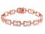 White Cubic Zirconia 18K Rose Gold Over Sterling Silver Tennis Bracelet 3.94ctw