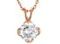 White Cubic Zirconia 18K Rose Gold Over Sterling Silver Pendant With Chain 2.18ctw