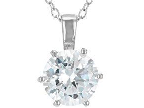 White Cubic Zirconia Rhodium Over Sterling Silver Pendant With Chain 2.97ctw