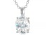 White Cubic Zirconia Rhodium Over Sterling Silver Pendant With Chain 2.88ctw