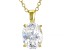 White Cubic Zirconia 18K Yellow Gold Over Sterling Silver Pendant With Chain 2.88ctw