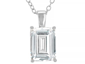 White Cubic Zirconia Rhodium Over Sterling Silver Pendant With Chain 3.16ctw