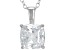 White Cubic Zirconia Rhodium Over Sterling Silver Pendant With Chain 3.15ctw