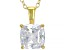 White Cubic Zirconia 18K Yellow Gold Over Sterling Silver Pendant With Chain 3.15ctw