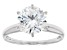 White Cubic Zirconia Rhodium Over Sterling Silver Ring 4.18ctw