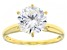 White Cubic Zirconia 18K Yellow Gold Over Sterling Silver Ring 4.18ctw