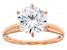 White Cubic Zirconia 18K Rose Gold Over Sterling Silver Ring 4.18ctw