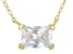 White Cubic Zirconia 18K Yellow Gold Over Sterling Silver Necklace 1.48ctw