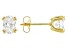 White Cubic Zirconia 18K Yellow Gold Over Sterling Silver Earrings 2.34ctw