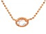 White Cubic Zirconia 18K Rose Gold Over Sterling Silver Necklace 0.32ctw