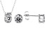 White Cubic Zirconia Rhodium Over Sterling Silver Pendant With Chain And Earrings 4.05ctw
