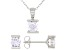 White Cubic Zirconia Rhodium Over Sterling Silver Pendant With Chain And Earrings 2.66ctw