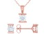 White Cubic Zirconia 18K Rose Gold Over Sterling Silver Pendant With Chain And Earrings 2.66ctw