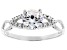 White Cubic Zirconia Rhodium Over Sterling Silver Promise Ring 1.35ctw