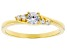 White Cubic Zirconia 18K Yellow Gold Over Sterling Silver Promise Ring 0.53ctw
