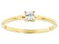 White Cubic Zirconia 18K Yellow Gold Over Sterling Silver Promise Ring 0.24ctw