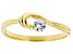 White Cubic Zirconia 18K Yellow Gold Over Sterling Silver Promise Ring 0.31ctw