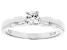 White Cubic Zirconia Rhodium Over Sterling Silver Promise Ring 0.40ctw