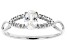 White Cubic Zirconia Rhodium Over Sterling Silver Promise Ring 0.72ctw