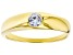 White Cubic Zirconia 18K Yellow Gold Over Sterling Silver Promise Ring 0.40ctw