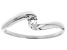 White Cubic Zirconia Rhodium Over Sterling Silver Promise Ring 0.17ctw