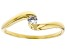 White Cubic Zirconia 18K Yellow Gold Over Sterling Silver Promise Ring 0.17ctw