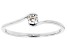 White Cubic Zirconia Rhodium Over Sterling Silver Promise Ring 0.24ctw