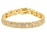White Cubic Zirconia 18K Yellow Gold Over Sterling Silver Tennis Bracelet 8.85ctw
