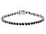 Black Cubic Zirconia Rhodium Over Sterling Silver Tennis Bracelet 7.85ctw
