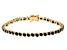 Black Cubic Zirconia 18K Yellow Gold Over Sterling Silver Tennis Bracelet 7.85ctw