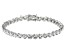 White Cubic Zirconia Rhodium Over Sterling Silver Tennis Bracelet 14.17ctw