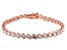 White Cubic Zirconia 18K Rose Gold Over Sterling Silver Tennis Bracelet 14.17ctw