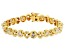 White Cubic Zirconia 18K Yellow Gold Over Sterling Silver Tennis Bracelet 5.26ctw