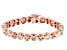White Cubic Zirconia 18K Rose Gold Over Sterling Silver Tennis Bracelet 5.26ctw