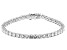 White Cubic Zirconia Rhodium Over Sterling Silver Tennis Bracelet 17.41ctw