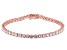 White Cubic Zirconia 18K Rose Gold Over Sterling Silver Tennis Bracelet 17.41ctw