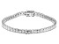 White Cubic Zirconia Rhodium Over Sterling Silver Tennis Bracelet 12.69ctw